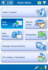 TISLOG Telematics System: Software Dialog Main Menu